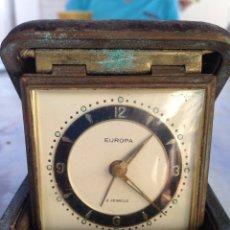 Despertadores antiguos: RELOJ DESPERTADOR ANTIGUO EUROPA 2 JEWELS. Lote 213562071
