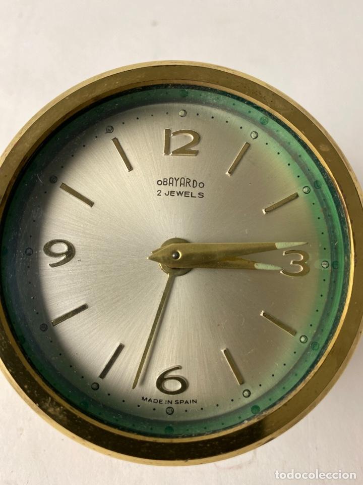 Despertadores antiguos: RELOJ DESPERTADOR OBAYANDO 2 JEWELS. AÑOS 60. - Foto 2 - 213678277