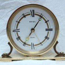 Despertadores antiguos: SWIZA QUARTZ ANTIGUO RELOJ DESPERTADOR.. Lote 213773806