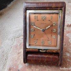 Despertadores antiguos: RELOJ DESPERTADOR DE LA MARCA JAEGER LE COULTRE 8 DÍAS CUERDA. Lote 214171886