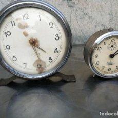 Despertadores antiguos: 2 RELOJES DESPERTADORES UNO BIG BEN MICRO Y OTRO ALBA. Lote 214442490