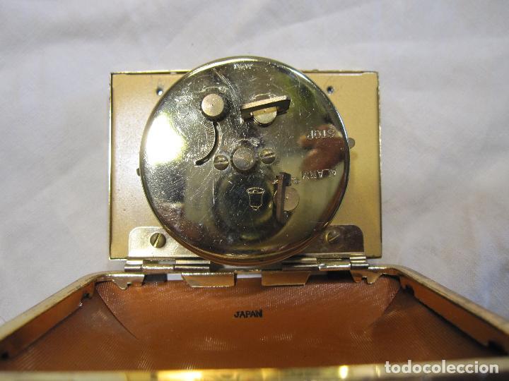 Despertadores antiguos: RELOJ DESPERTADOR DE VIAJE. VINTAGE. TOKYO CLOCK. EN FUNCIONAMIENTO. 3 X 7,5 X 10 CM (CERRADO) - Foto 6 - 214444232