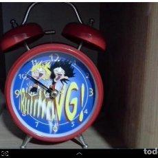 Despertadores antiguos: RELOJ DESPERTADOR ZIPI Y ZAPE. FUNCIONANDO PEFECTO. Lote 215609783