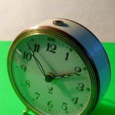 Despertadores antiguos: RELOJ DESPERTADOR JAZ. FUNCIONANDO TODO. MANUAL A CUERDA. DESCRIPCION Y FOTOS.. Lote 216966598