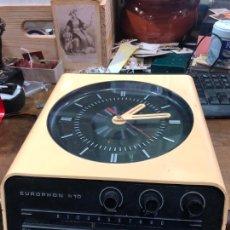 Despertadores antiguos: ANTIGUA RADIO RELOJ EUROPHON H 10 - MEDIDA 31X23 CM. Lote 217132783