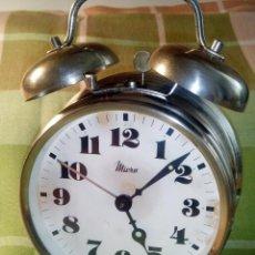 Despertadores antiguos: ANTIGUO MICRO - 2 CAMPANAS. BUEN ESTADO. FUNCIONANDO TODO. DESCRIPCION Y FOTOS.. Lote 218219911