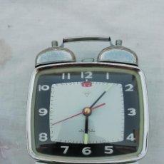 Despertadores antiguos: ANTIGUO RELOJ DESPERTADOR DE CUERDA DE LOS AÑOS 80 MADE IN CHINA- FUNCIONANDO. Lote 218377807