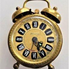 Despertadores antiguos: PRECIOSO RELOJ DESPERTADOR BLESSIND - GERMANY. Lote 218500775