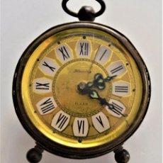 Despertadores antiguos: PRECIOSO RELOJ DESPERTADOR BLESSIND - GERMANY - ALARMA. Lote 218501081