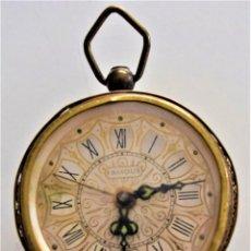 Despertadores antiguos: PRECIOSO RELOJ DESPERTADOR FAMOUS - SEGURAMENTE FABRICADO POR BLESSING, GERMANY. Lote 218501425