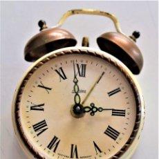 Despertadores antiguos: PRECIOSO RELOJ DESPERTADOR KAISER - WESTERN GERMANY. Lote 218501913