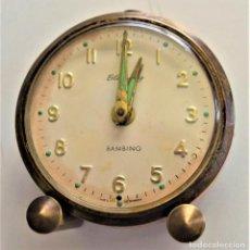 Despertadores antiguos: PRECIOSO RELOJ DESPERTADOR BLESSING BAMBINO - GERMANY. Lote 218502480