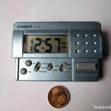 Despertadores antiguos: CASIO PQ-10D RELOJ DESPERTADOR DE VIAJE CON LUZ, FUNCIONANDO. TRAVELLER´S ALARM CLOCK. Lote 218694590