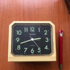 Despertadores antiguos: RELOJ DESPERTADOR JAPONÉS SEYKO. Lote 219709732