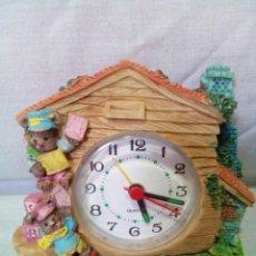 Despertadores antiguos: BONITO RELOJ INFANTIL DESPERTADOR. Lote 219768033