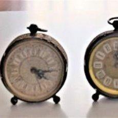 Despertadores antiguos: LOTE 6 RELOJ DESPERTADOR MARCAS BLESSIND, FAMOUS, KAISER Y DAEL FABRICADOS EN ALEMANIA. Lote 220639536