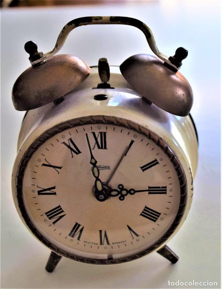 Despertadores antiguos: LOTE 6 RELOJ DESPERTADOR MARCAS BLESSIND, FAMOUS, KAISER Y DAEL FABRICADOS EN ALEMANIA - Foto 12 - 220639536