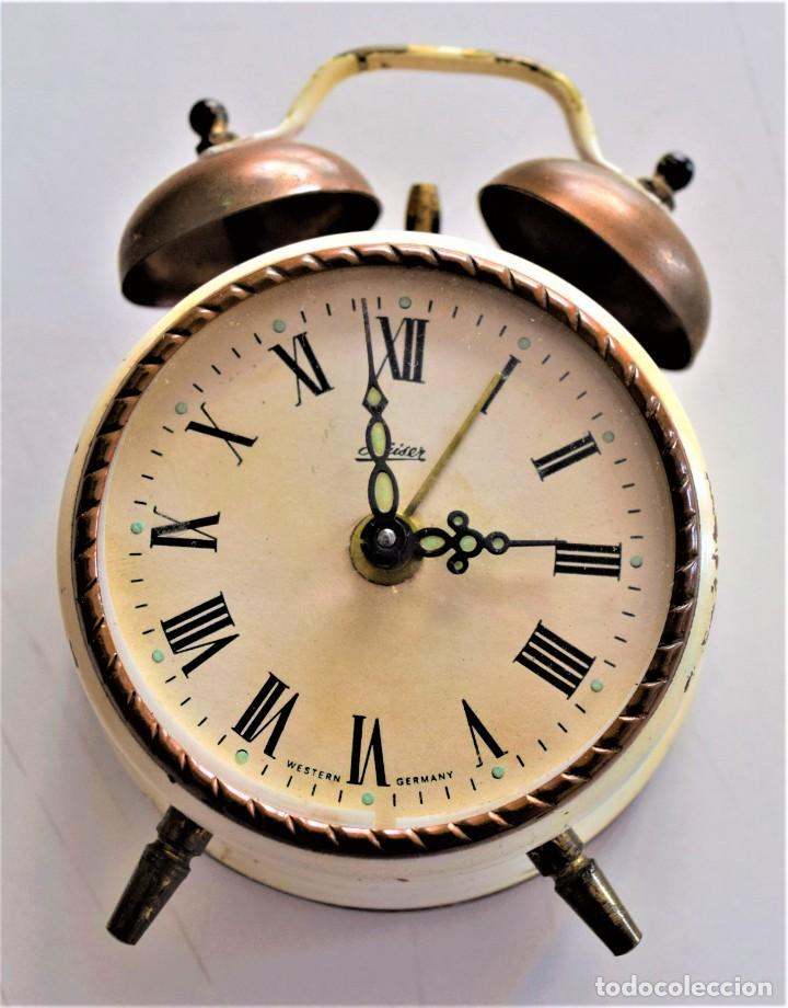 Despertadores antiguos: LOTE 6 RELOJ DESPERTADOR MARCAS BLESSIND, FAMOUS, KAISER Y DAEL FABRICADOS EN ALEMANIA - Foto 21 - 220639536