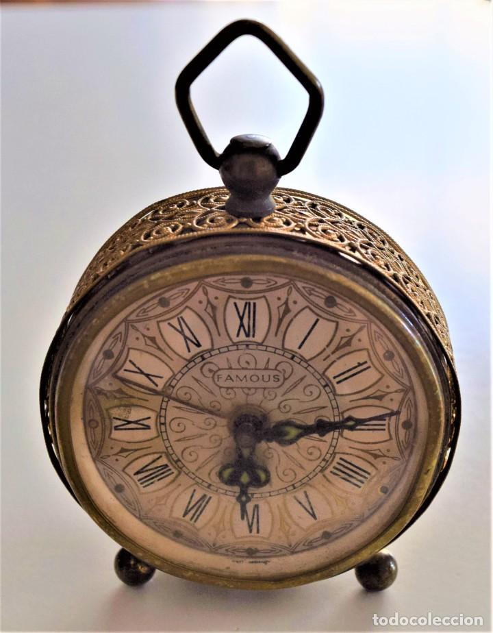 Despertadores antiguos: LOTE 6 RELOJ DESPERTADOR MARCAS BLESSIND, FAMOUS, KAISER Y DAEL FABRICADOS EN ALEMANIA - Foto 33 - 220639536