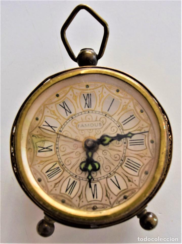 Despertadores antiguos: LOTE 6 RELOJ DESPERTADOR MARCAS BLESSIND, FAMOUS, KAISER Y DAEL FABRICADOS EN ALEMANIA - Foto 42 - 220639536