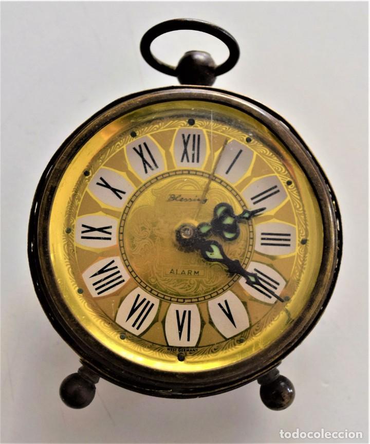 Despertadores antiguos: LOTE 6 RELOJ DESPERTADOR MARCAS BLESSIND, FAMOUS, KAISER Y DAEL FABRICADOS EN ALEMANIA - Foto 52 - 220639536