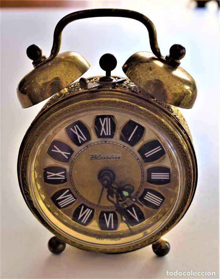 Despertadores antiguos: LOTE 6 RELOJ DESPERTADOR MARCAS BLESSIND, FAMOUS, KAISER Y DAEL FABRICADOS EN ALEMANIA - Foto 54 - 220639536