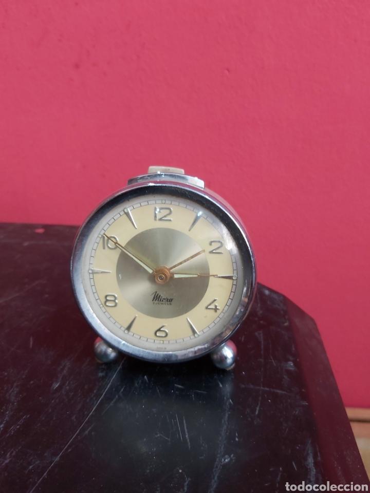 RELOJ DESPERTADOR MICRO 2 JEWELS ANTIGUO (Relojes - Relojes Despertadores)