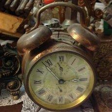 Despertadores antiguos: RELOJ DESPERTADOR ANTIGUO. Lote 222134991