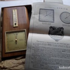 Despertadores antiguos: ANTIGUO BAROMETRO Y TERMOMETRO NUEVO. Lote 222609756