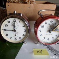 Despertadores antiguos: 2 ANTIGUO DESPERTADORES DE CUERDA. Lote 222609922