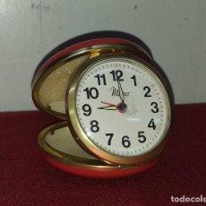 Despertadores antiguos: DESPERTADOR VINTAGE DE VIAJE. Lote 222676835