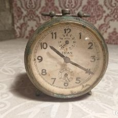 Despertadores antigos: ANTIGUO DESPERTADOR DE CAMPANAS MARCA TITAN AÑOS 40-50. Lote 223150262