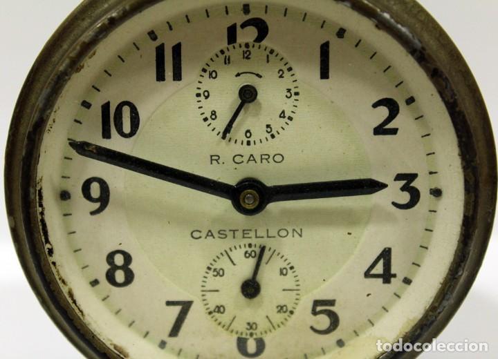 Despertadores antiguos: Reloj Despertador - RELOJERÍA R.CARO DE CASTELLÓN. - Foto 2 - 223966231