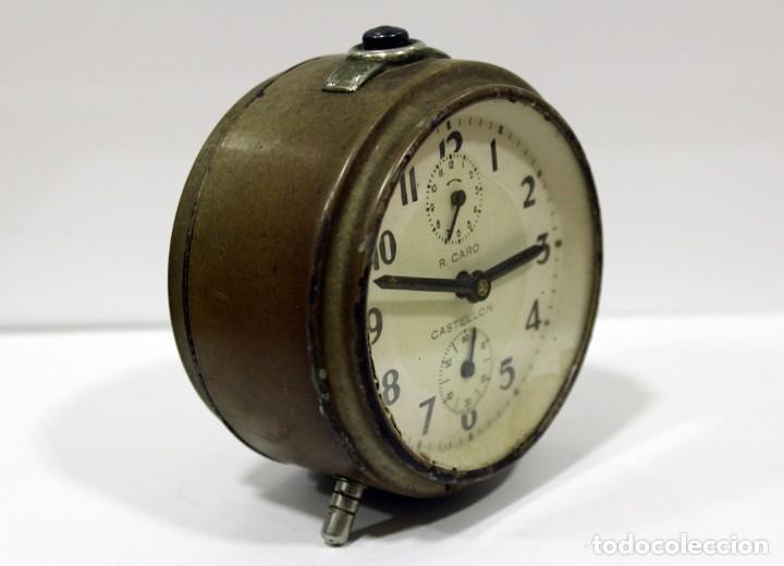 Despertadores antiguos: Reloj Despertador - RELOJERÍA R.CARO DE CASTELLÓN. - Foto 3 - 223966231