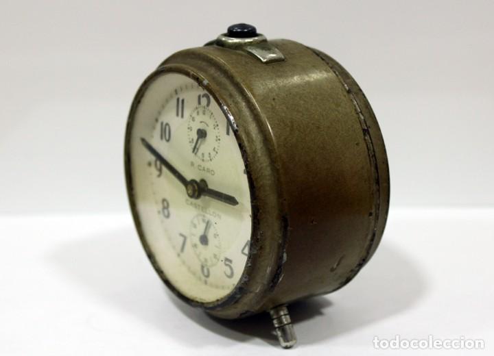 Despertadores antiguos: Reloj Despertador - RELOJERÍA R.CARO DE CASTELLÓN. - Foto 4 - 223966231