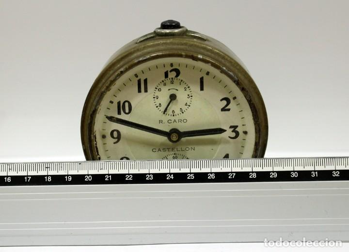 Despertadores antiguos: Reloj Despertador - RELOJERÍA R.CARO DE CASTELLÓN. - Foto 9 - 223966231