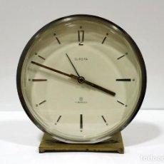 Despertadores antiguos: RELOJ DESPERTADOR EUROPA 8 DÍAS. GERMANY. PRECIOSO Y MUY RARO.. Lote 223974690