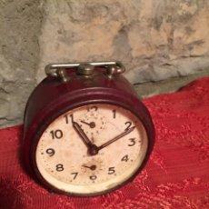 Despertadores antiguos: ANTIGUO DESPERTADOR DE CAMPANA / CAMPANAS DE METAL MARCA SILENTIO DE LOS AÑOS 60. Lote 223978752