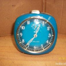Despertadores antiguos: RELOJ DESPERTADOR XAFIRO-AÑOS 1970-FUNCIONA. Lote 224221038