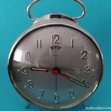 Despertadores antiguos: RELOJ DESPERTADOR AÑO 1970 VINTAGE DE CUERDA. Lote 226336045