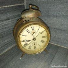 Despertadores antiguos: RELO ANTIGUO J. UNGHANS DESPERTADOR DE BRONCE O LATON. Lote 226617610