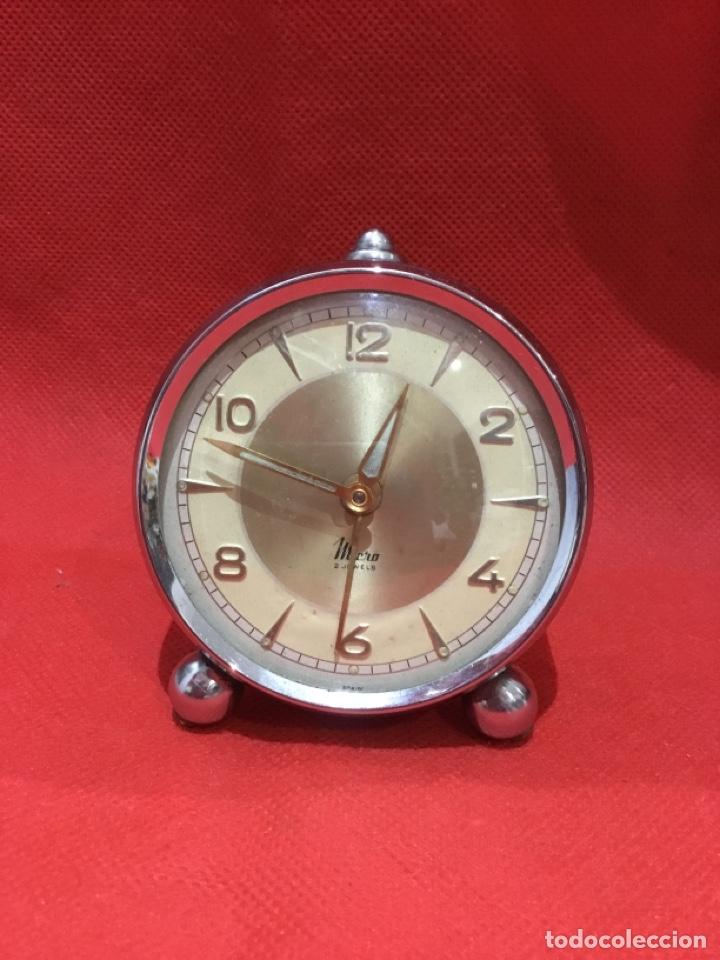 RELOJ DESPERTADOR MICRO 2 JEWELS MADE IN SPAIN VER FOTOS (Relojes - Relojes Despertadores)