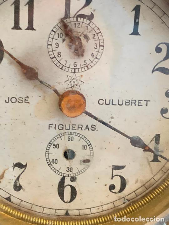 Despertadores antiguos: Curioso despertador antiguo, JOSE CULUBRET, FIGUERAS. Leer mas - Foto 5 - 227830460