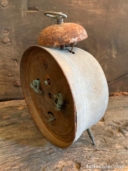 Despertadores antiguos: Curioso despertador antiguo, JOSE CULUBRET, FIGUERAS. Leer mas - Foto 6 - 227830460