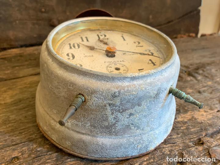 Despertadores antiguos: Curioso despertador antiguo, JOSE CULUBRET, FIGUERAS. Leer mas - Foto 7 - 227830460