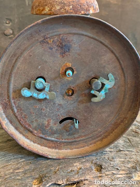 Despertadores antiguos: Curioso despertador antiguo, JOSE CULUBRET, FIGUERAS. Leer mas - Foto 9 - 227830460