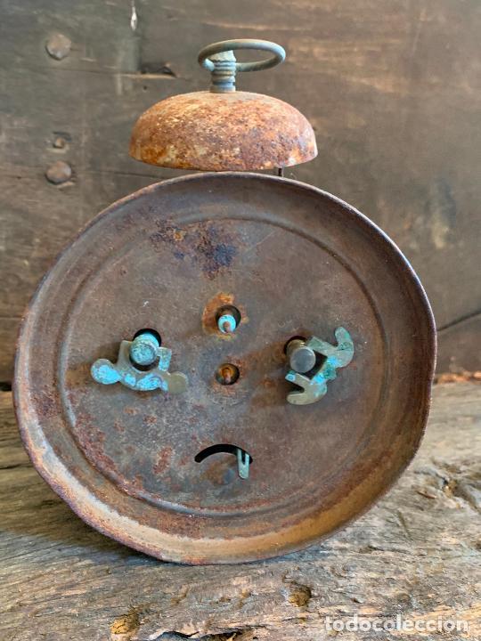 Despertadores antiguos: Curioso despertador antiguo, JOSE CULUBRET, FIGUERAS. Leer mas - Foto 10 - 227830460