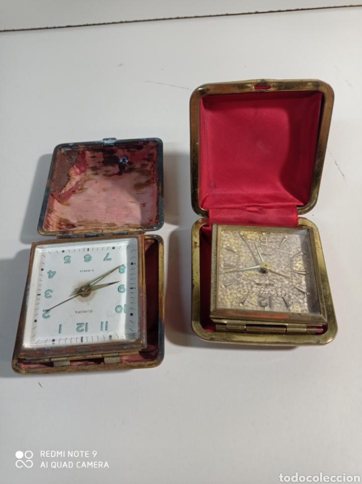Despertadores antiguos: Lote de dos relojes despertadores Marca Europa de carga manual, fabricados en Alemania para reparar. - Foto 4 - 227914775