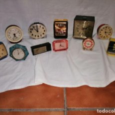 Despertadores antiguos: LOTE DE 11 RELOJES DESPERTADORES VINTAGE AÑOS 70'S. Lote 227994000