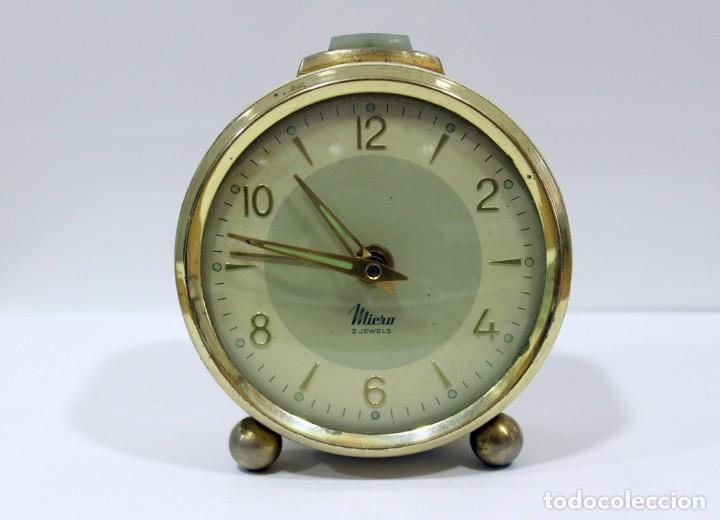 RELOJ DESPERTADOR MICRO 2 JEWELS. (Relojes - Relojes Despertadores)